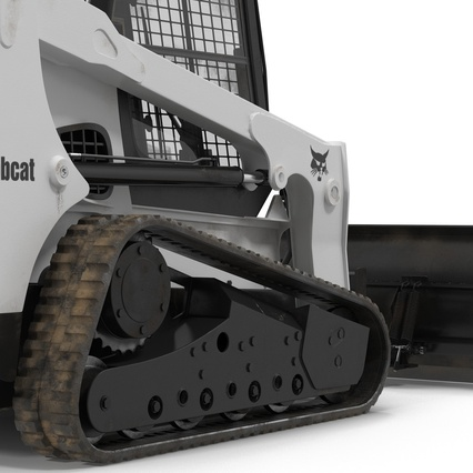 Compact Tracked Loader Bobcat With Blade Rigged. Render 26