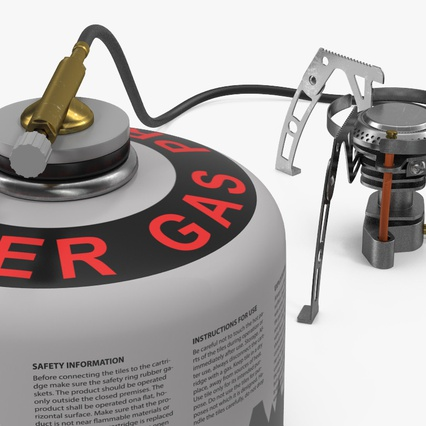 Camping Gas Stove 3. Render 11