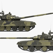 T72 Main Battle Tank Camo Rigged. Preview 8