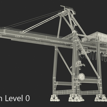 Container Crane Blue. Render 33