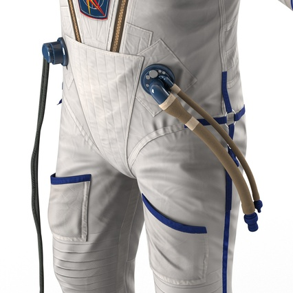 Russian Astronaut Wearing Space Suit Sokol KV2 Rigged for Maya. Render 38