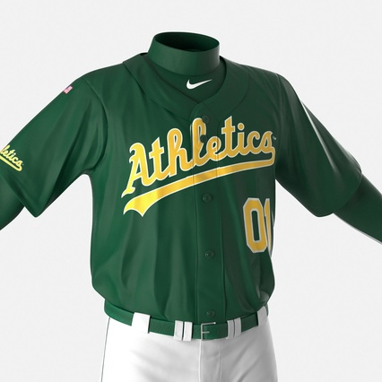 Baseball Player Outfit Athletics 3. Render 20