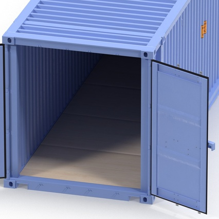45 ft High Cube Container Blue. Render 27