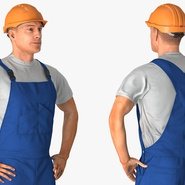 Construction Worker with Hardhat Standing Pose. Preview 7