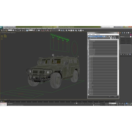 Russian Mobility Vehicle GAZ Tigr M Rigged. Render 72