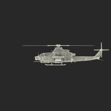 Attack Helicopter Bell AH 1Z Viper Rigged. Render 77