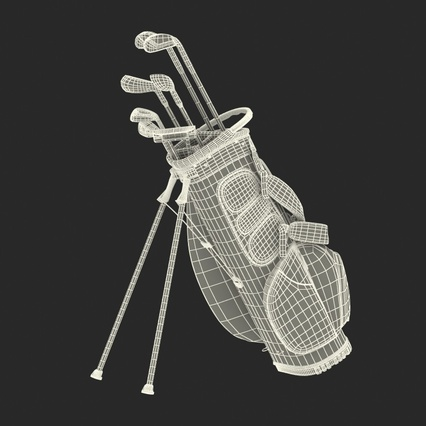 Golf Bag Seahawks with Clubs. Render 26