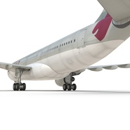 Jet Airliner Airbus A330-200 Qatar. Preview 35