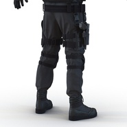 SWAT Man Mediterranean Rigged for Cinema 4D. Preview 32