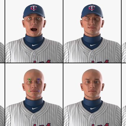 Baseball Player Rigged Twins 2. Render 10