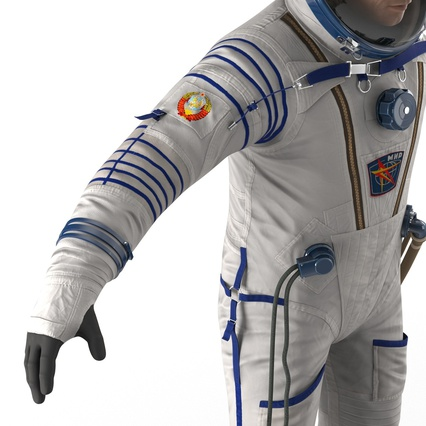 Russian Astronaut Wearing Space Suit Sokol KV2 Rigged for Maya. Render 41