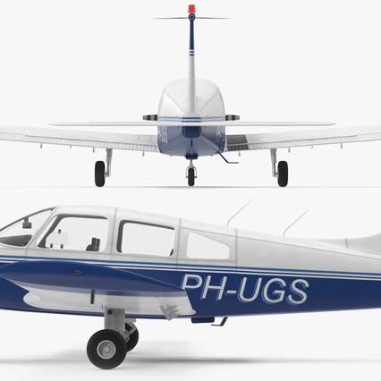 Piper PA-28-161 Cherokee Rigged. Render 14