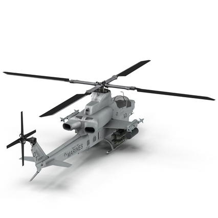 Attack Helicopter Bell AH 1Z Viper Rigged. Render 25