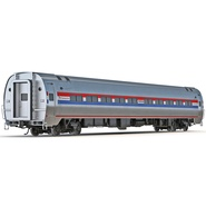 Railroad Amtrak Passenger Car 2. Preview 2