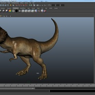 Tyrannosaurus Rex Rigged for Maya. Preview 27