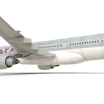 Jet Airliner Airbus A330-200 Qatar. Render 38