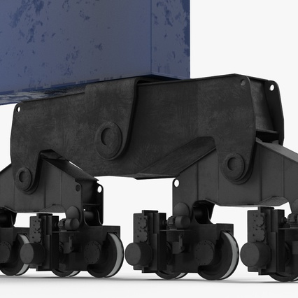 Container Crane Blue. Render 30
