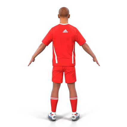 Soccer Player Rigged for Maya. Render 9