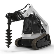 Compact Tracked Loader with Auger. Preview 2