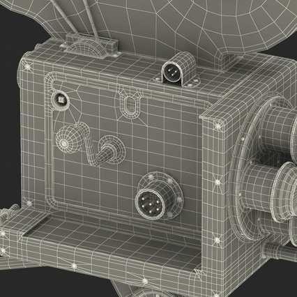 Vintage Video Camera and Tripod. Render 53
