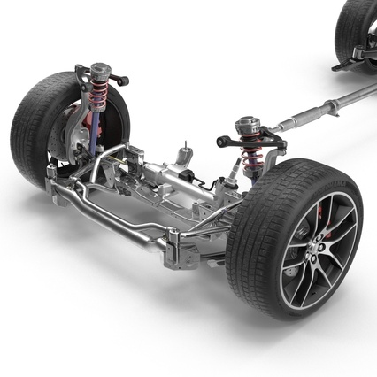 Sedan Chassis. Render 10