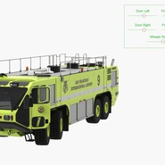 Oshkosh Striker 4500 Aircraft Rescue and Firefighting Vehicle Rigged. Preview 11