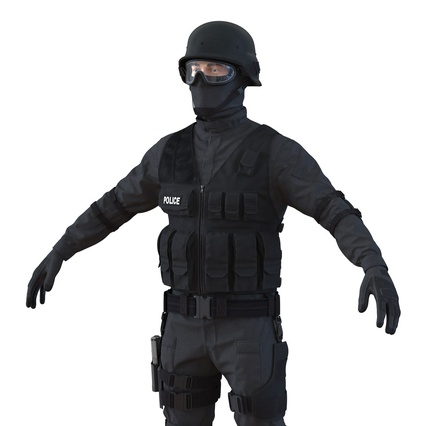 SWAT Man Mediterranean Rigged for Maya. Render 21