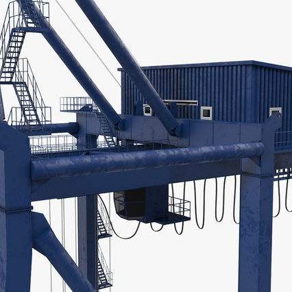 Container Crane Blue. Render 26