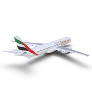 Jet Airliner Airbus A330-300 Emirates Rigged. Preview 24
