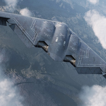 Stealth Bomber B-2 Spirit Rigged. Render 8