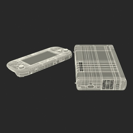 Nintendo Wii U Set White. Render 57
