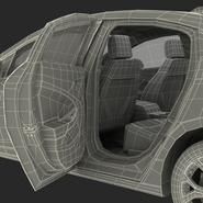 Generic Hybrid Car Rigged. Preview 107