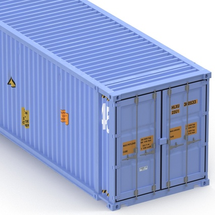 45 ft High Cube Container Blue. Render 21
