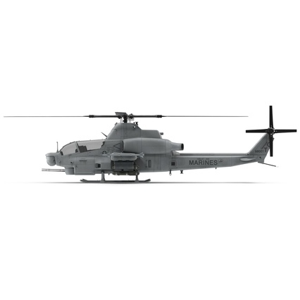 Attack Helicopter Bell AH 1Z Viper Rigged. Render 26