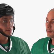 Hockey Player Stars Rigged for Maya. Preview 22