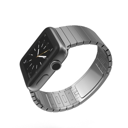 Apple Watch 38mm Link Bracelet Dark Space 2. Render 8