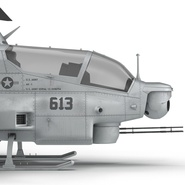 Attack Helicopter Bell AH 1Z Viper Rigged. Preview 76