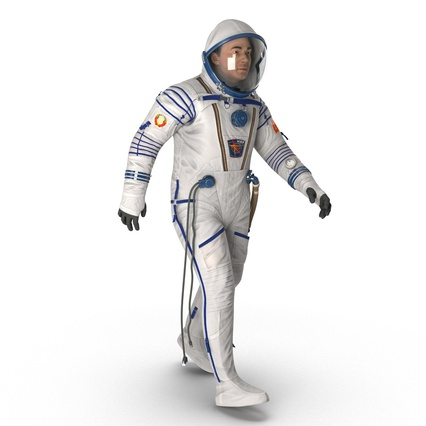 Russian Astronaut Wearing Space Suit Sokol KV2 Rigged for Maya. Render 18