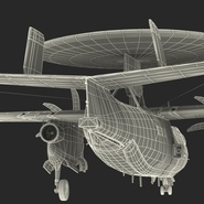 Grumman E-2 Hawkeye Tactical Early Warning Aircraft Rigged. Preview 31