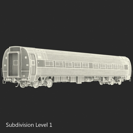 Railroad Amtrak Passenger Car 2. Render 43