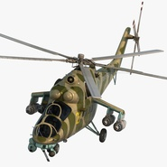 Russian Large Helicopter Gunship Mi-35M Rigged