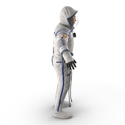 Russian Astronaut Wearing Space Suit Sokol KV2 Rigged for Maya. Render 10