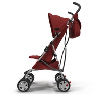 Baby Stroller Red. Preview 7