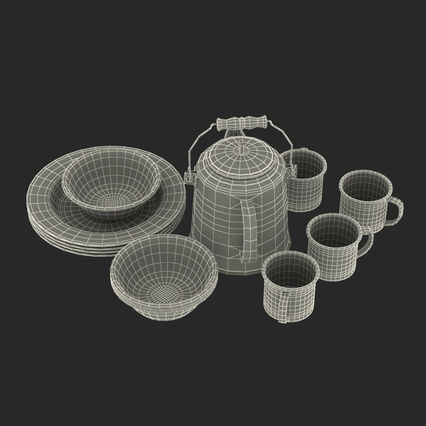 Camping Cookware. Render 26