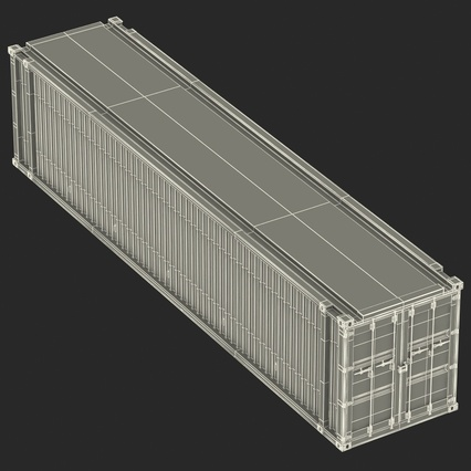 45 ft High Cube Container Blue. Render 37