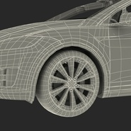 Tesla Model X Rigged. Preview 100