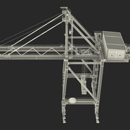Port Container Crane Red with Container. Preview 44
