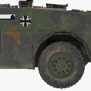 Fennek German Reconnaissance Vehicle Rigged. Preview 24