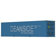 40 ft High Cube Container Blue 2. Preview 2
