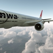 Jet Airliner Airbus A330-300 Northwest Airlines Rigged. Preview 14